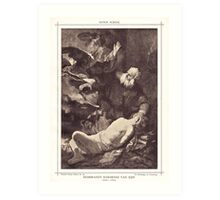 The sarcifice of Abracham Art Print