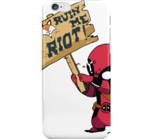 Deadpool Riot! iPhone Case/Skin