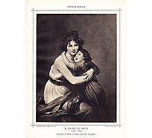Portrait of Mme, Le Brun and her daughter Photographic Print