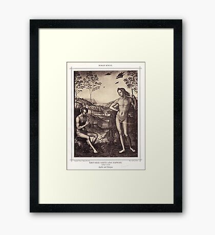 Apollo and Marsyas Framed Print