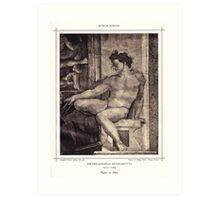 Figure on Pilar Art Print