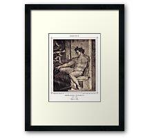 Figure on Pilar Framed Print