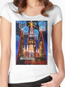XMAS THE CHOIR Women's Fitted Scoop T-Shirt