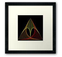 Triangle envelope coloured hot Framed Print