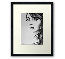 Pencil Portrait Framed Print