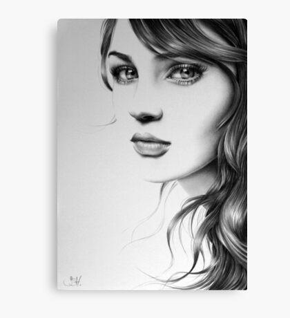 Pencil Portrait Canvas Print