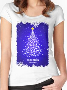 CHRISTMAS TREE with STAR Women's Fitted Scoop T-Shirt
