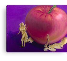 From the Apple & Eve Series, Pink Apple Canvas Print