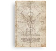 Da Vinci's Real Screw Invention Canvas Print