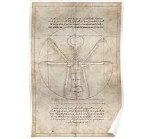 Da Vinci's Real Screw Invention Poster