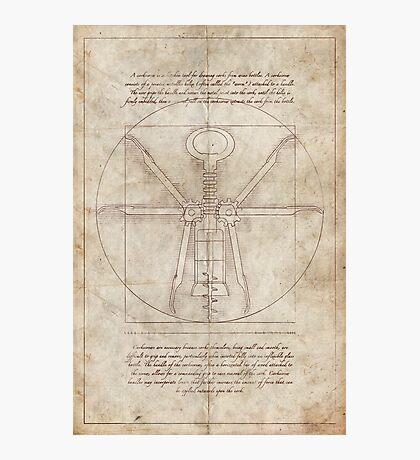 Da Vinci's Real Screw Invention Photographic Print