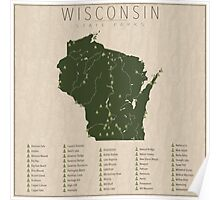 Wisconsin Parks Poster