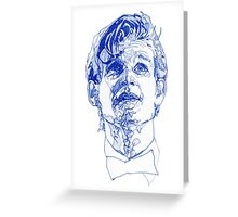 Eleven In Tardis Blue  Greeting Card