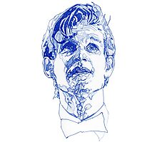 Eleven In Tardis Blue  Photographic Print