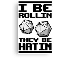 Roleplaying D20 Dice Canvas Print