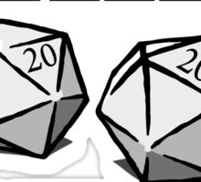 Roleplaying D20 Dice Sticker