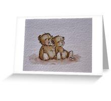 Bear cuddle Greeting Card