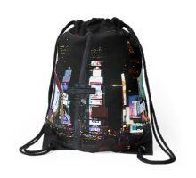 Times Square NYC Drawstring Bag