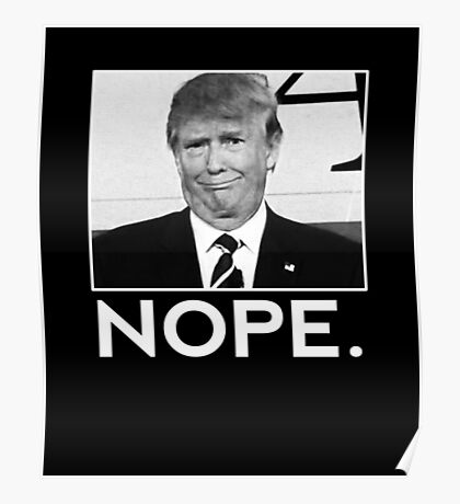 Anti-Trump He hates this picture Nope  Poster