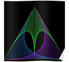 Triangle envelope coloured cold Poster