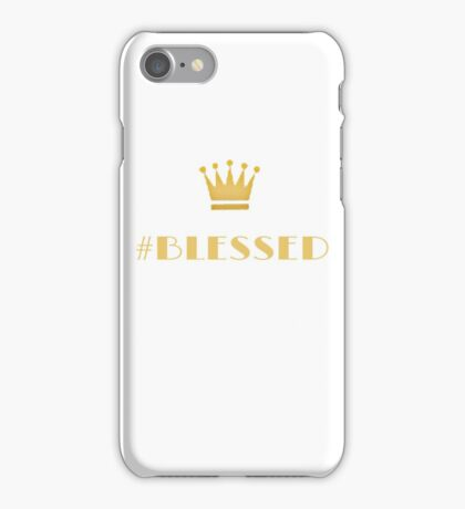 #Blessed Gold iPhone Case/Skin
