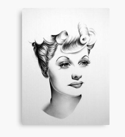 Lucille Ball Minimal Portrait Canvas Print