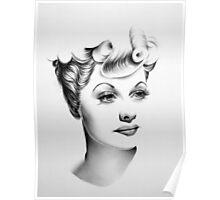 Lucille Ball Minimal Portrait Poster