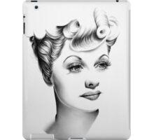Lucille Ball Minimal Portrait iPad Case/Skin
