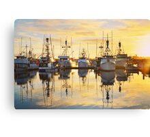 Seaport Sunset Canvas Print