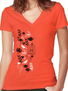 songbird tee  Women's Fitted V-Neck T-Shirt