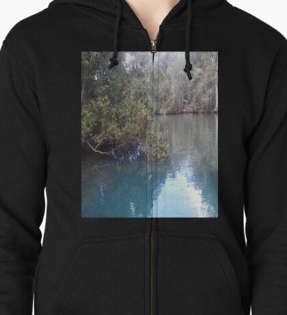 Homosassa Springs Manatee Pond Zipped Hoodie
