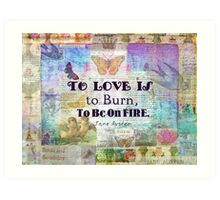 Jane Austen Love Quote Art Print