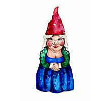Mildred the Gnome Photographic Print