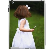 A child and technology iPad Case/Skin