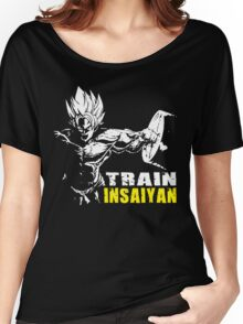TRAIN INSAIYAN (Goku Hardcore Squat) Women's Relaxed Fit T-Shirt