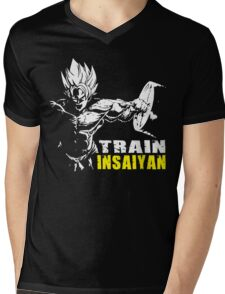 TRAIN INSAIYAN (Goku Hardcore Squat) Mens V-Neck T-Shirt