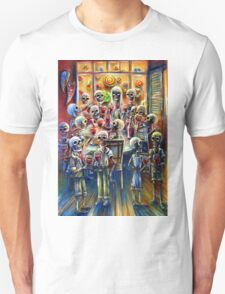 Skeleton Wine Party T-Shirt
