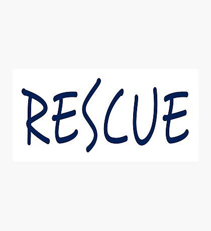 Rescue (blue) Photographic Print