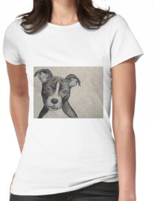 Staffie Love Womens Fitted T-Shirt