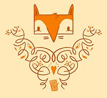 Ornate Fox Pattern by Blake Stevenson