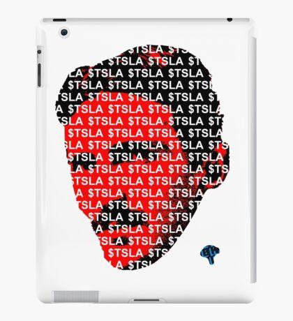 $TSLA Nikola Tesla Motors Stock Ticker Symbol Logo Cashtag iPad Case/Skin