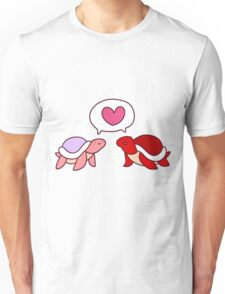 Red and Pink Love Turlte Unisex T-Shirt