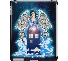 The angel has a phone box iPad Case/Skin