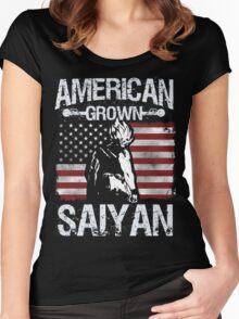 American Grown Saiyan Women's Fitted Scoop T-Shirt