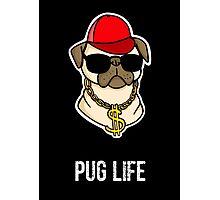 Pug Gangster Life Photographic Print