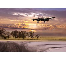 Morning return: Lancasters at sunrise Photographic Print
