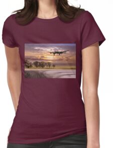Morning return: Lancasters at sunrise Womens Fitted T-Shirt