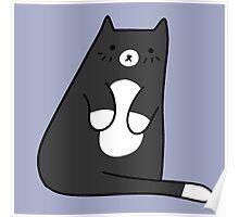 Cute Tuxedo Kitty Poster