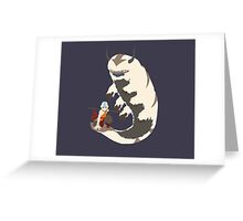 Aang and Appa! - Just Chillin Greeting Card