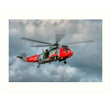 Royal Navy Search and Rescue Sea King Helicopter Art Print